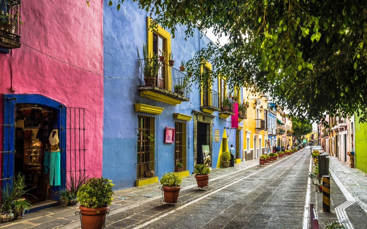 Ruelle de Puebla au Mexique
