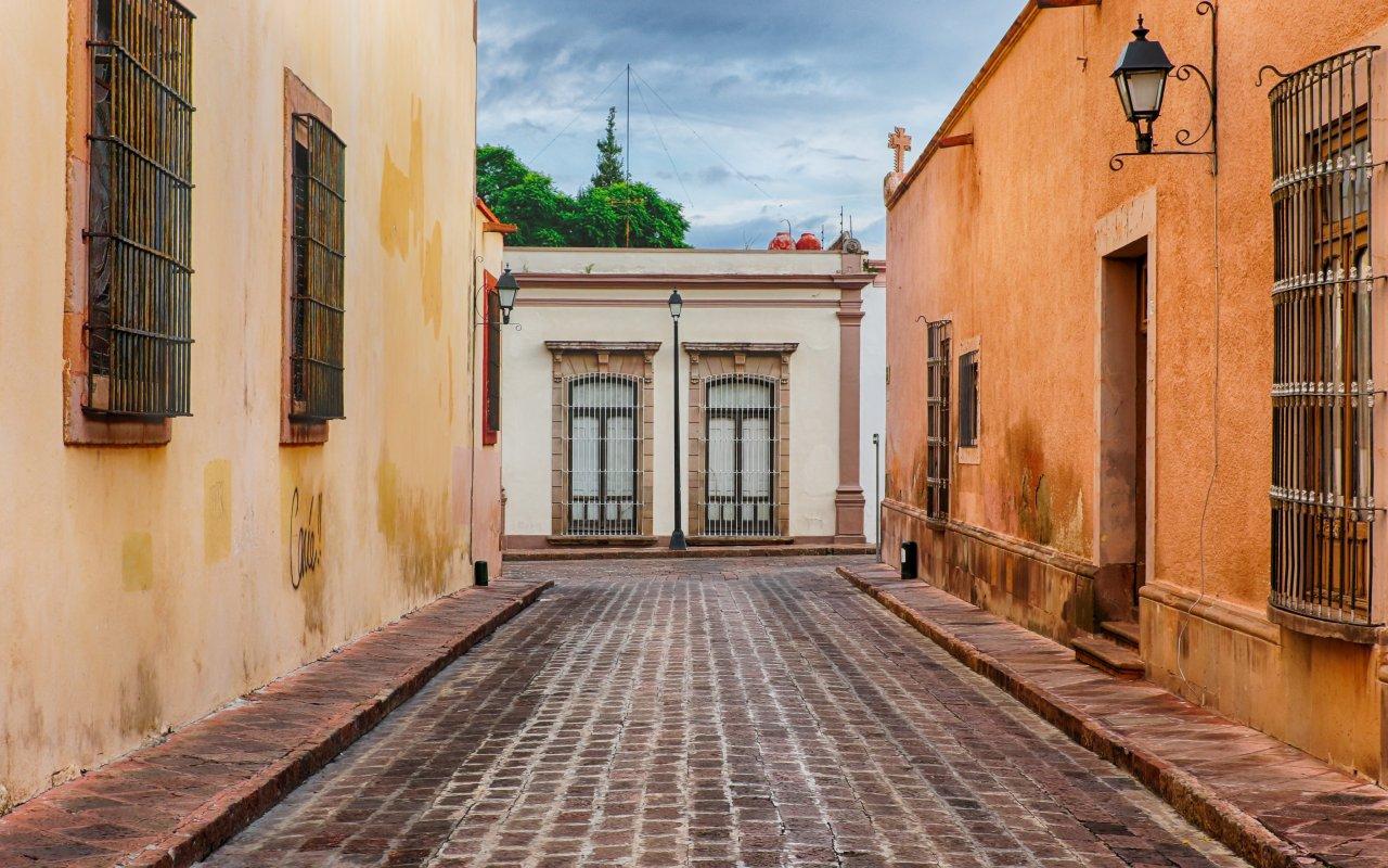 Rue de Queretaro au Mexique