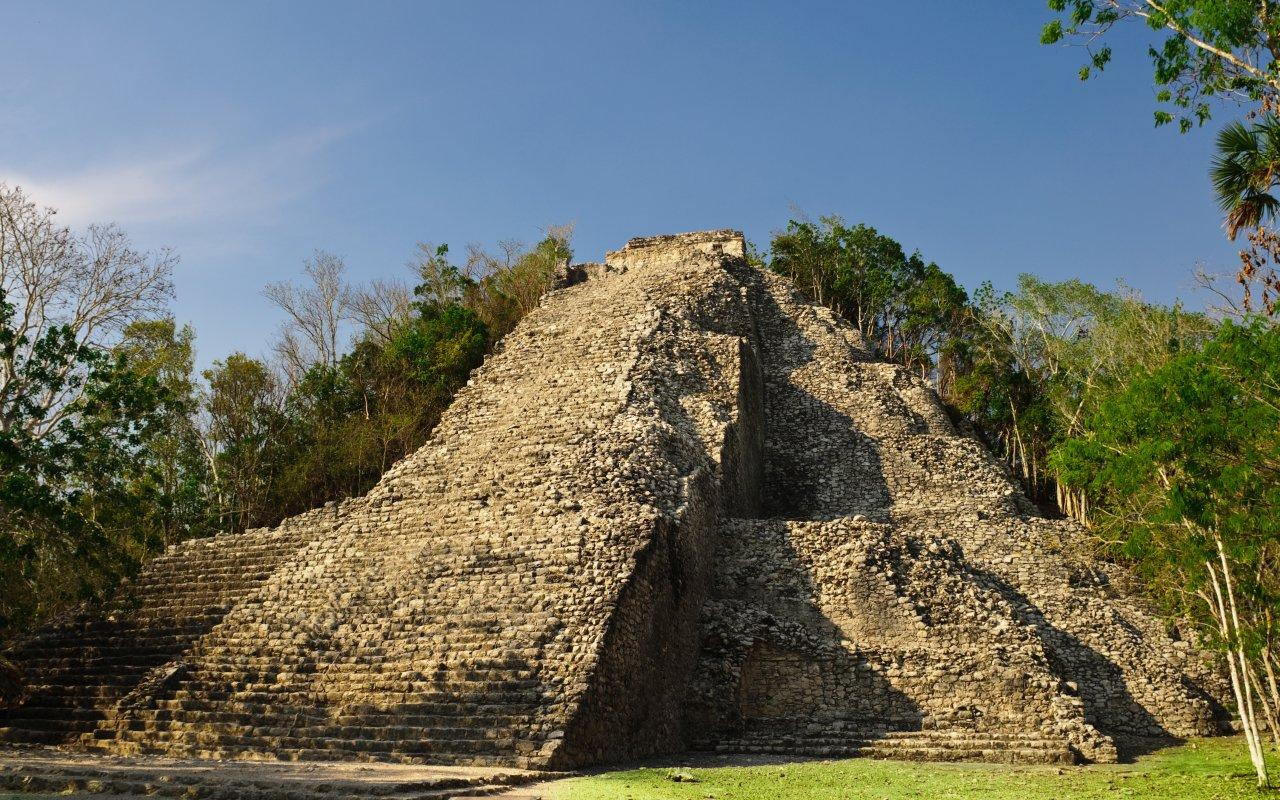 Pyramide de Coba au Mexique
