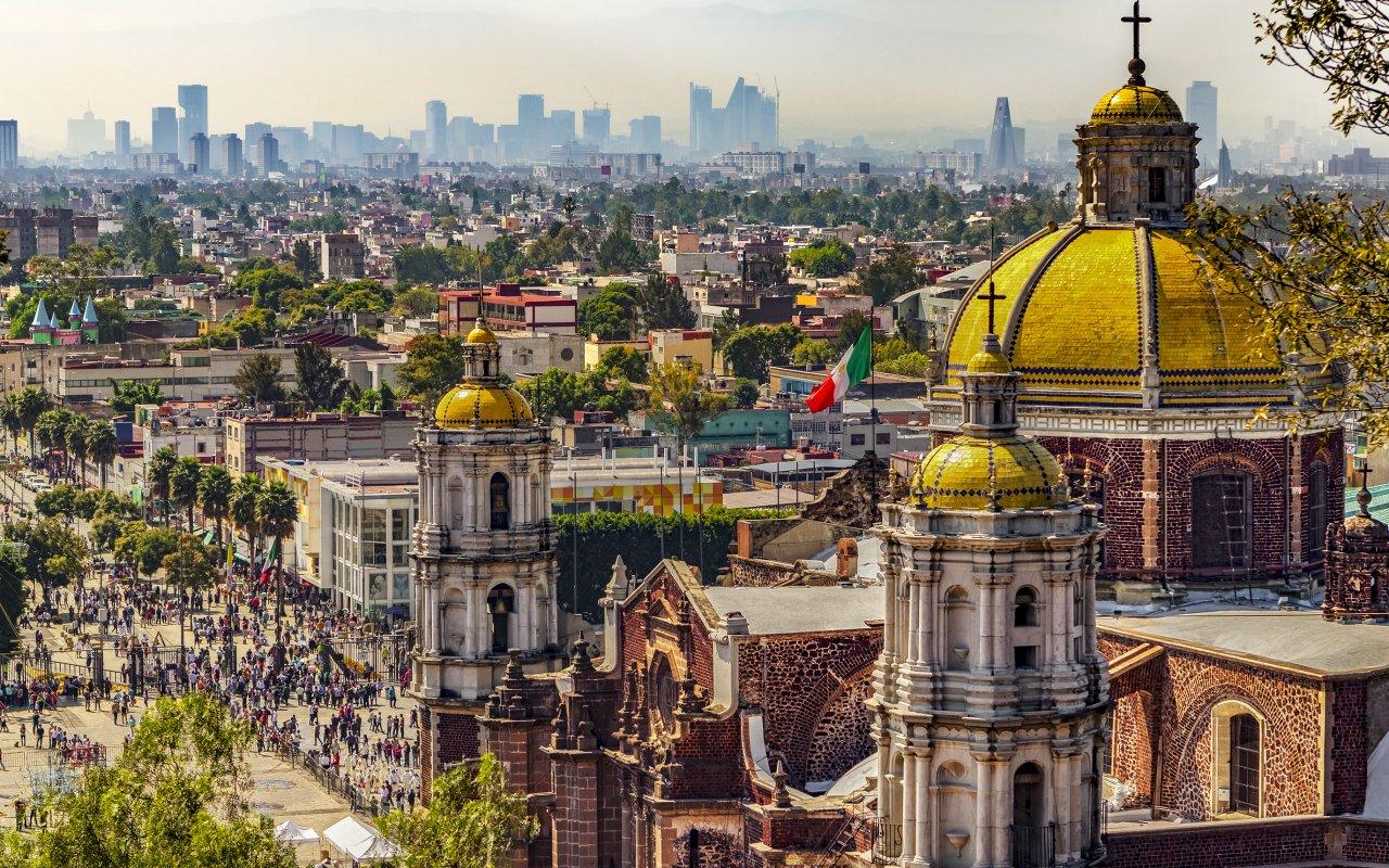 Basilique de la Guadalupe au Mexique
