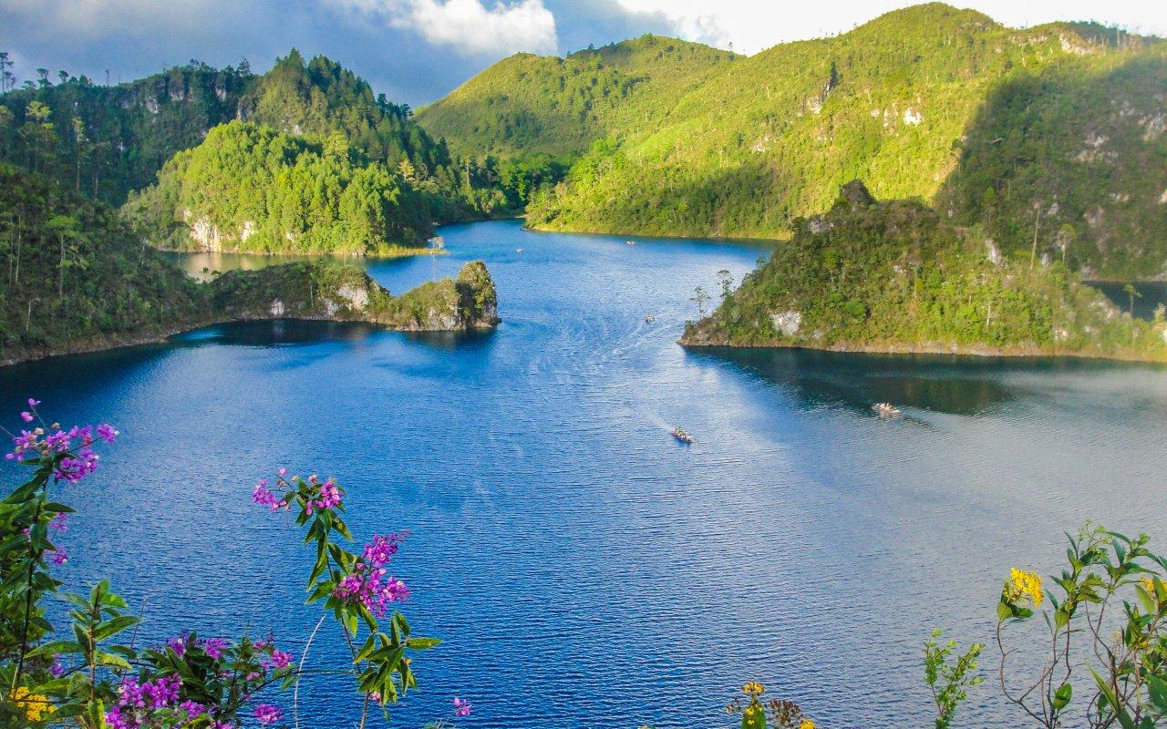 Montebello Lake at Chiapas, Mexico