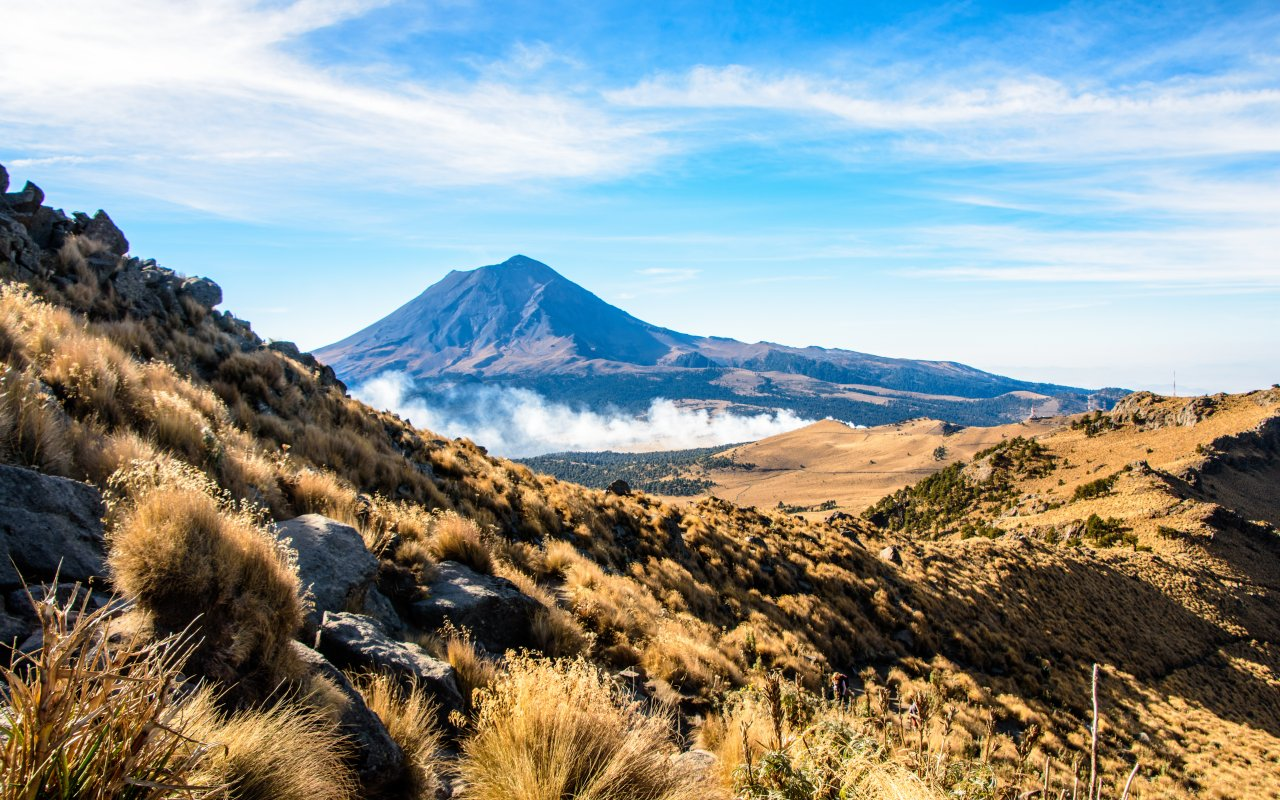 Volcan Popocatépetl au Mexique