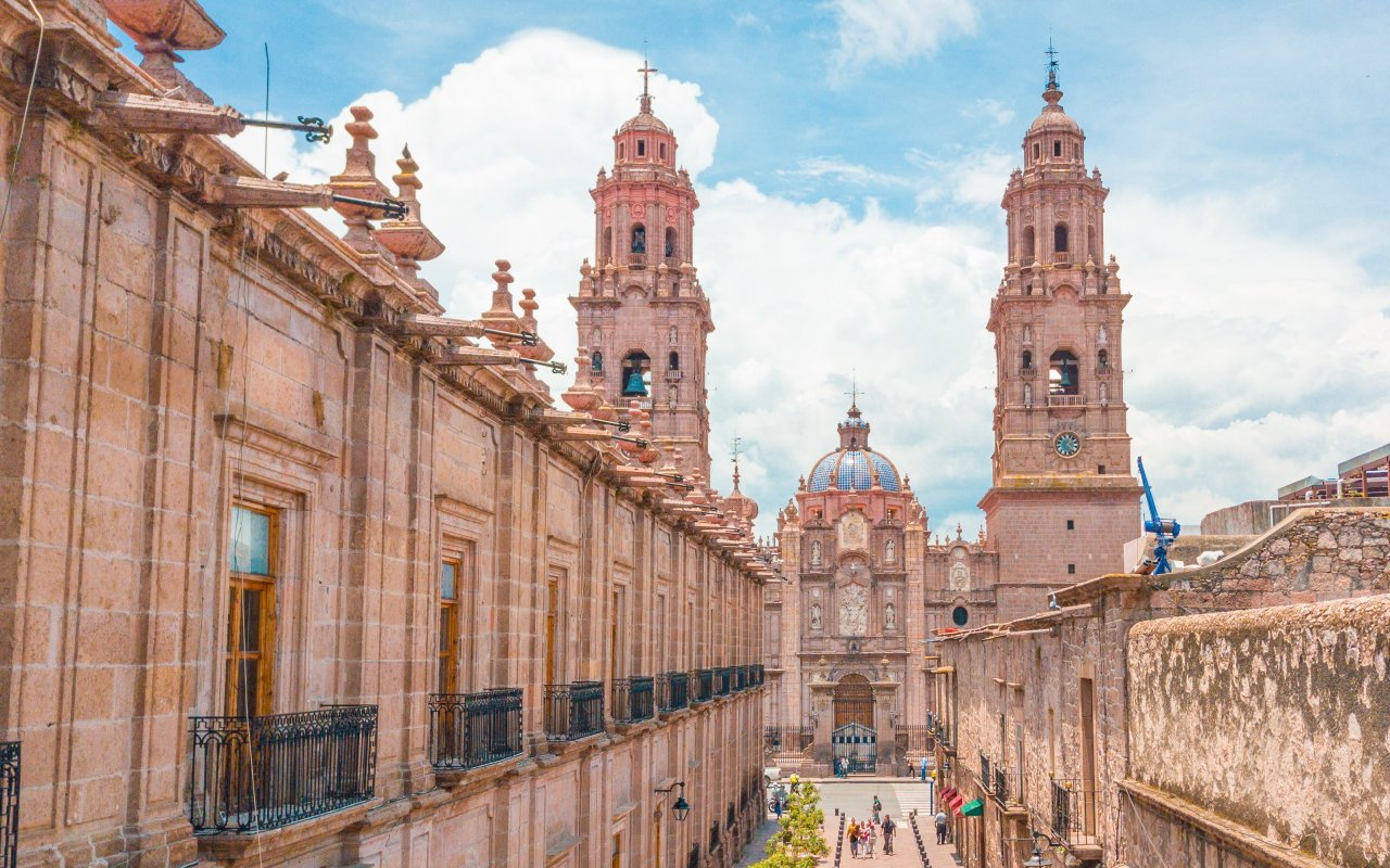 Cathédrale de Morelia au Mexique