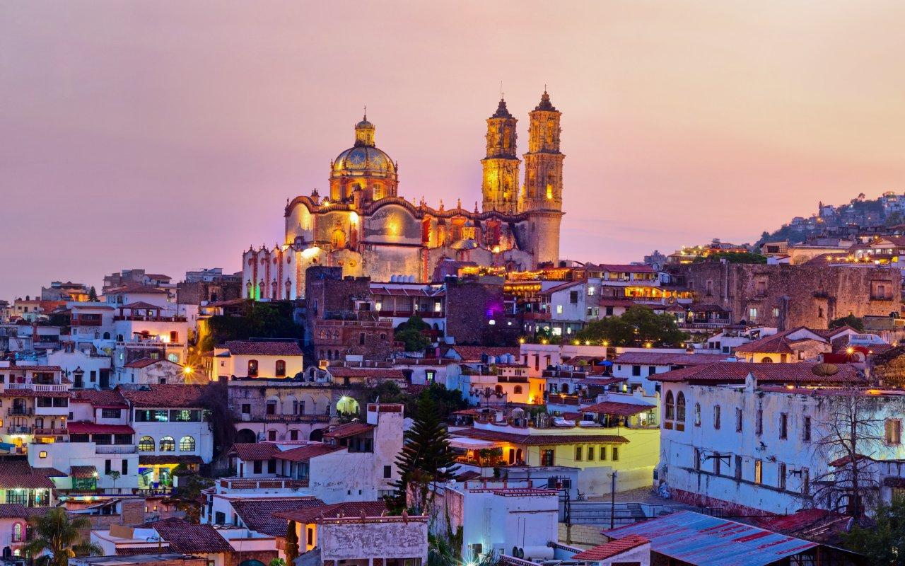 Panorama de Taxco city au Mexique