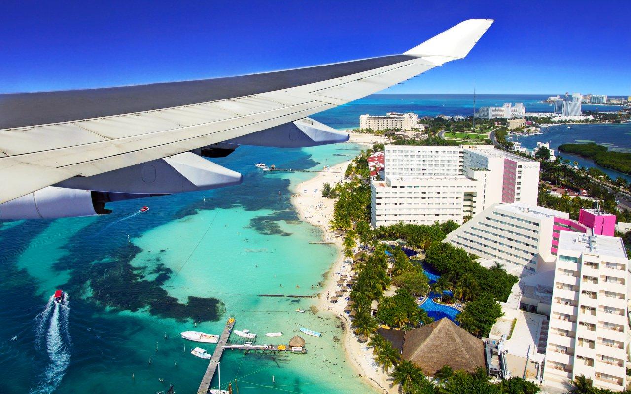 vue aérienne de Cancun